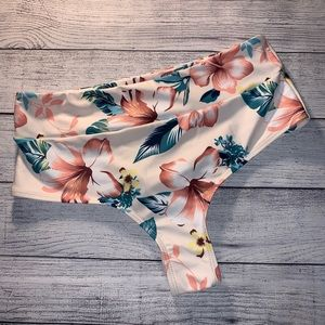L Zaful floral high waist super cheeky swim bikini